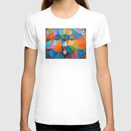 retro colorful bear in a beautiful T-shirt