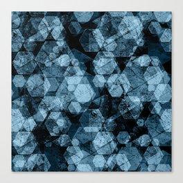 Blue hexagons. Kaleidoscope Canvas Print