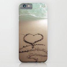 Beach Heart Sand Writing iPhone 6s Slim Case
