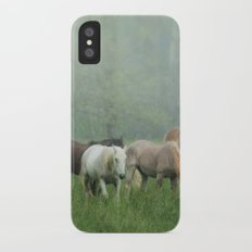 Out in the rain iPhone X Slim Case