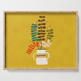 Potted Leaves Serving Tray