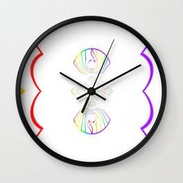Rainbow Remix Wall Clock