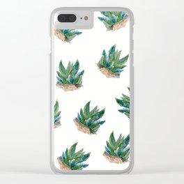 Pattern aloe seamless Clear iPhone Case