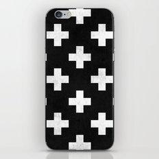 Black and white swiss cross pattern iPhone & iPod Skin