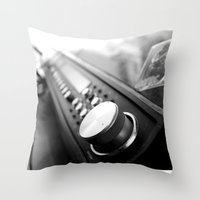 acdc Throw Pillows featuring Record player by Deliratio