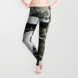 Collection Of Scenic Views Of Japan II, Western Japan Edition, Temple Bell Tower Of Mt. Koyasan Leggings