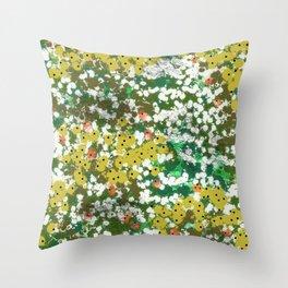 Monets Pond Throw Pillow