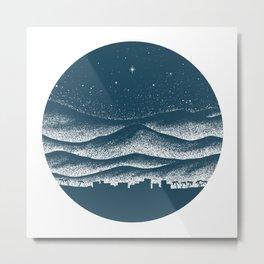 Bethlehem, Blue Metal Print