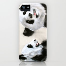 Laughing Pandas  iPhone Case