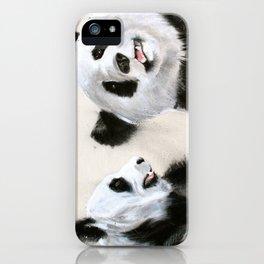 Laughing Pandas  iPhone Case