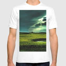 Passing Through MEDIUM White Mens Fitted Tee