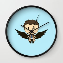 Cas With Wings Wall Clock
