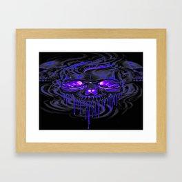 Purple Nurpel Skeletons Framed Art Print