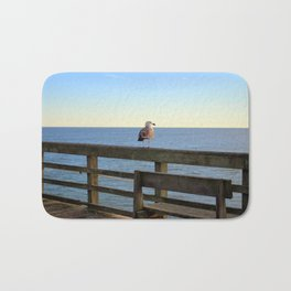 Perched On The Pier Bath Mat