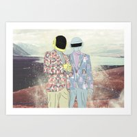 daft punk Art Prints featuring Daft Punk. by Lucas Eme A