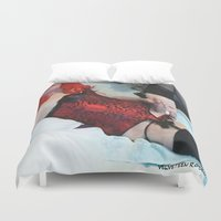 penis Duvet Covers featuring funny painting Transgender trannie BDSM fetish panty corset sex fuck penis cock dick woman man cute by Velveteen Rodent