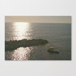 Fishing Liguria at Sunset Canvas Print