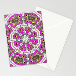 Pink Octagons* Stationery Cards