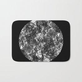Silver Moon - Abstract, textured silver foil lunar design Bath Mat