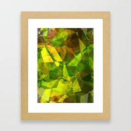 Cactus Garden Abstract Polygons 1 Framed Art Print