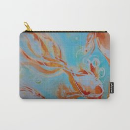 GoldFish Bubbles 1se watercolor by CheyAnne Sexton Carry-All Pouch