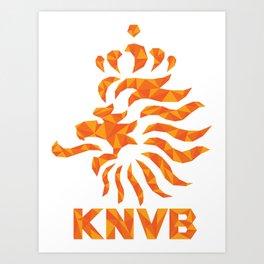 KNVB Football Crest Art Print