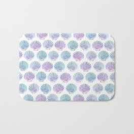 iridescent shells pattern Bath Mat