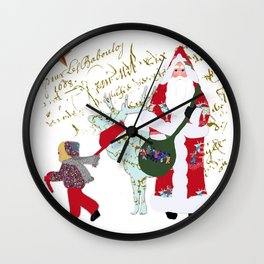 A French Script Christmas Wall Clock