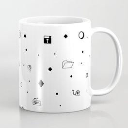 Wingdings Print Coffee Mug