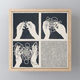 Overthinking Framed Mini Art Print