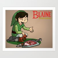 The Legend of Blaine Art Print