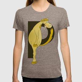 Pony Monogram Letter P T-shirt