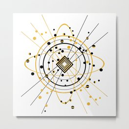 Complex Atom Metal Print