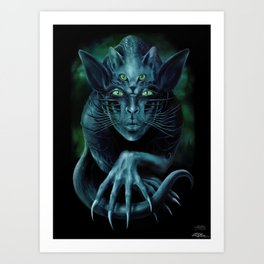 Cat People Art Print