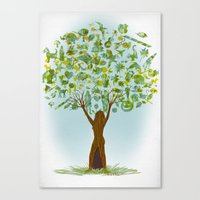 tree of life Canvas Prints featuring Life tree by Michelle Behar