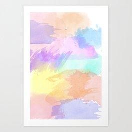 Watercolor Splash Art Print