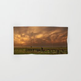 Afterglow - Clouds Glow After Storms at Sunset Hand & Bath Towel