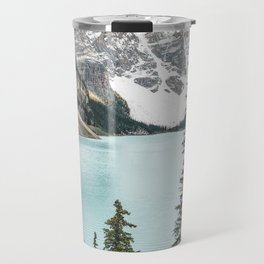 Peaceful Moment at Moraine Lake Travel Mug