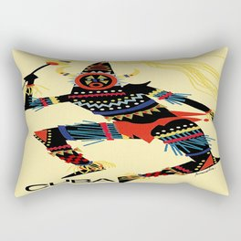 Vintage Cuba Costumed Dancer Travel Rectangular Pillow