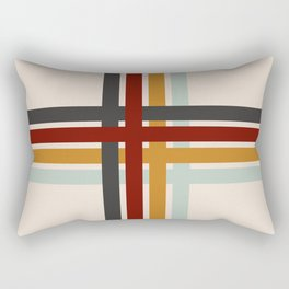 Colored Retro Cross Rectangular Pillow