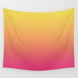 Ombre  digital illustration yellow Magenta colors Wall Tapestry