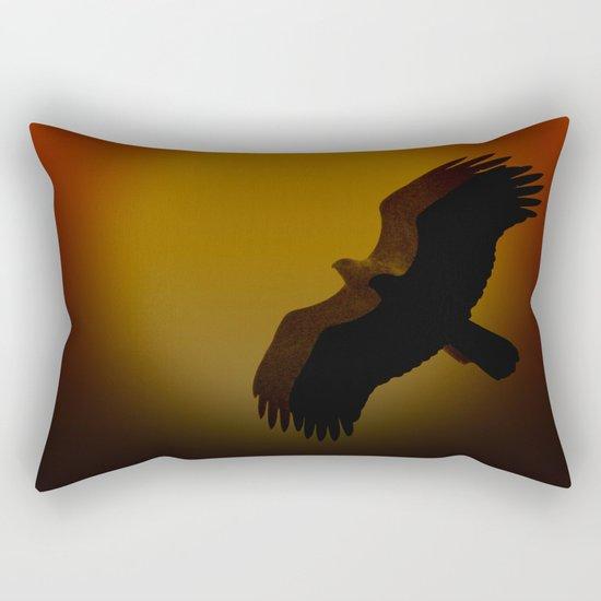 Shadow flight Rectangular Pillow