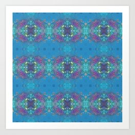 Blue and violet ocean impression Art Print