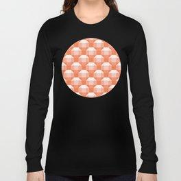 3D Optical Illusion: Orange Rhombicuboctahedron Long Sleeve T-shirt