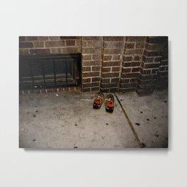 Sidewalk Shoes Metal Print