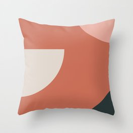 Orbit 03 Modern Geometric Throw Pillow