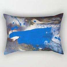 Blue Bomb Rectangular Pillow