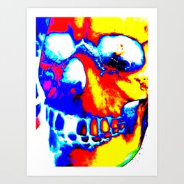 Techno Skull Art Print