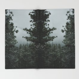 Backwoods Winter: Ponderosa Pines, Washington Throw Blanket
