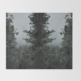 Backwoods Winter: Ponderosa Pines, Washington Throw Blanket